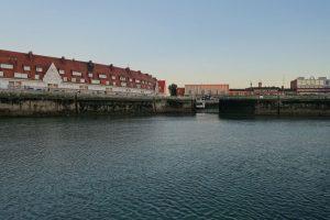 Calais Vorhafen bei Ebbe
